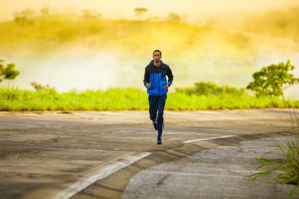 man jogging exercise